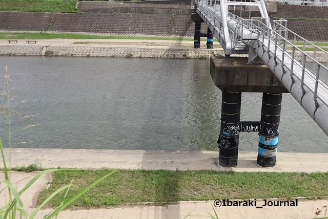 250822千歳橋の北側安威川の水位IMG_3243