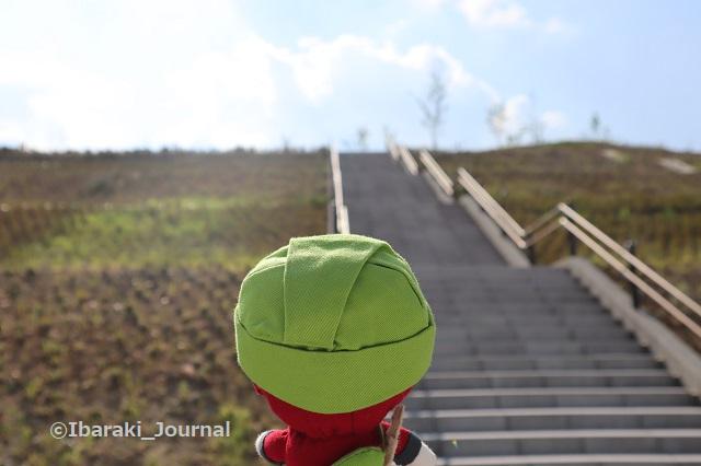 彩都はなだ公園丘への階段にんじゃるIMG_2591