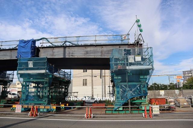 12ー0910西河原西工事の陸橋横からIMG_3974