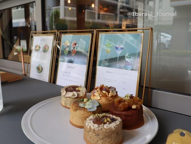 お茶とお花とモンブランの注文カウンターkkIMG_4713